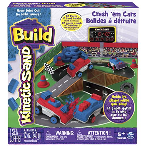 Spin Master 6026967 - Kinetic Sand Build - Crash Em Cars