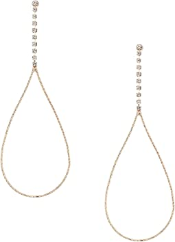GUESS - Dainty Pear Shaped on Rhinestone Linear Earrings