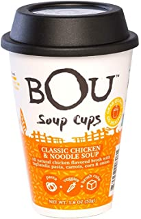 BOU Classic Chicken & Noodle Soup Cups 1.8 oz Cups - Pack of 6