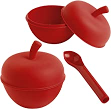 Mastrad Two Silicone Oven Apple Cookers And Fruit Corer set Cookware, Red