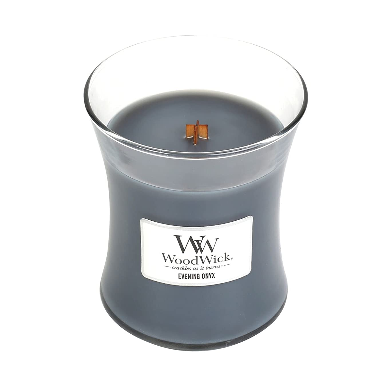 勝利した敗北計算(Medium, Evening Onyx) - WoodWick Medium Hourglass Scented Candle, Evening Onyx