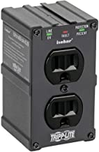 Tripp Lite Isobar 2 Outlet Surge Protector Power Strip, Direct Plug In, Black, Metal, Lifetime Limited Warranty & $10,000 INSURANCE (ULTRABLOK)