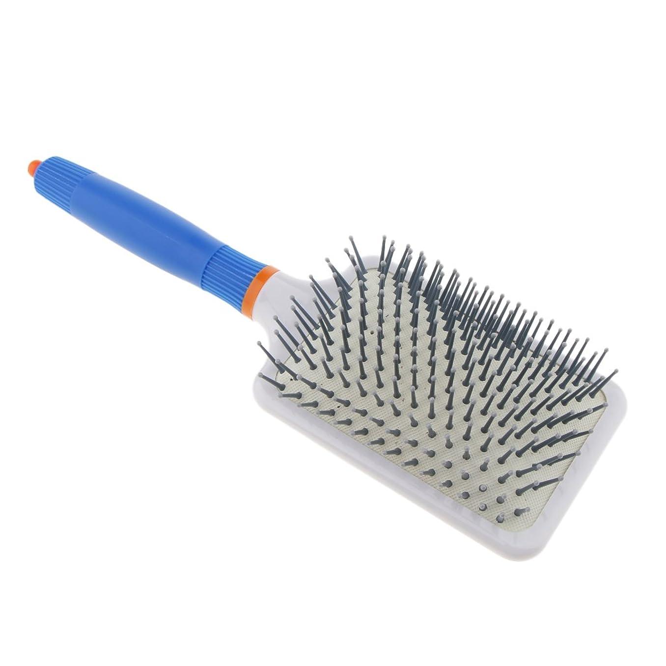 演じる凶暴な固有の頭皮マッサージ ヘアブラシ 櫛 ヘアコーム エアバッグ櫛 静電気防止 便利 濡れ髪適用 全2色 - ダークブルー