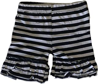 LC Boutique Girls Double Ruffle Striped Bike Shorts Mid Thigh Sizes 2 to 12