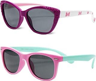 MOTOEYE Kids Cat Eye Sunglasses for Girls Boys Children...