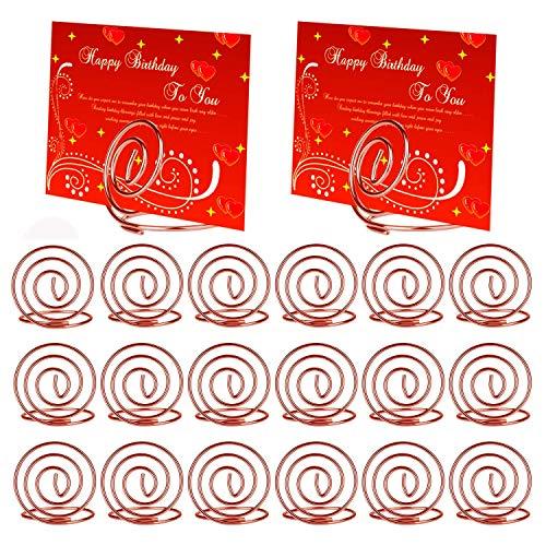 MWOOT Kartenhalter, 20 STK Fotohalter zur Halterung von Namenskarten, Tischnummerkarten, Fotos für Hochzeit, Ausstellung Edelstahl Kartenhalterung Rosa