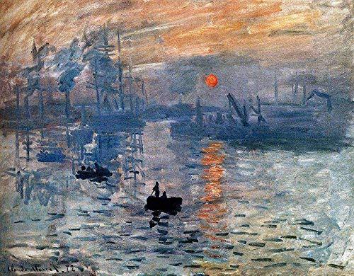 SUNYU famoso dipinto a olio con impronta di Monet, 1000 pezzi, puzzle impressione, alba, Claude Monet, riproduzione artistica per adulti, laurea speciale