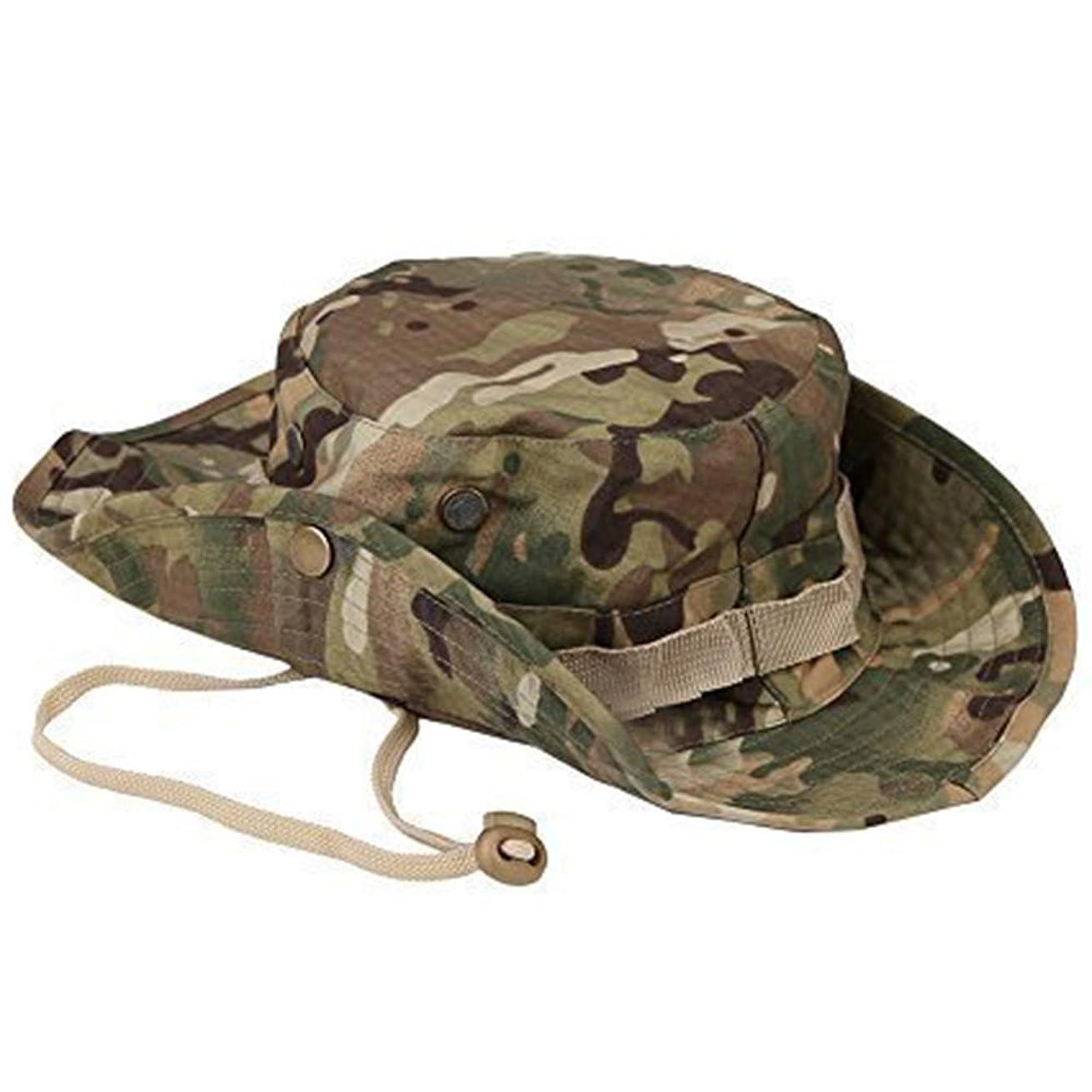 論争の的魔術財団Laat Sun Hat Fisherman Capハイキング旅行帽子紫外線対策ソーラーBonnet Printed迷彩釣り帽子女性の男性のための帽子