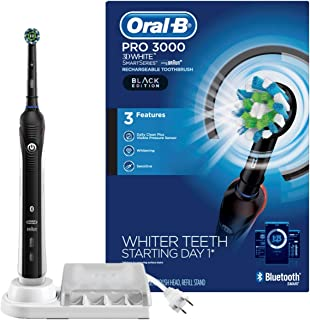 Oral-B Pro 3000 Electric Toothbrush Smartseries With Bluetooth Connectivity, Black Edition (Powered By Braun), 1 Count