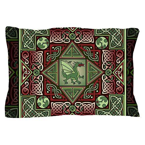 CafePress Celtic Dragon Labyrinth Pillow Case Standard Size Pillow Case, Pillow Cover, Unique Pillow Slip