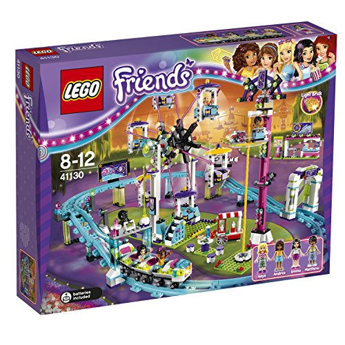 LEGO Friends Set Costruzioni Le Montagne Russe del Parco Divertimenti, Colore Vari, 41130
