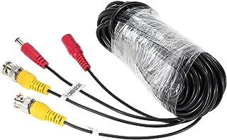 KKmoon 20 m/65,6 fot BNC video-strömkabel för CCTV-kamera DVR-säkerhetssystem (20 m)