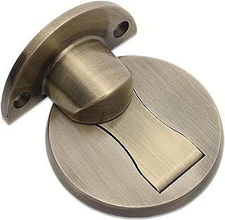 Magnetic Door Stop Door Holder, Solid Metal Invisible Door Stopper SUS 304 Stainless Steel Door Catch Doorstop 3M Double-Sided Adhesive Tape [No Need to Drill], and Catch Screw Mount 1 Pack (Bronze)