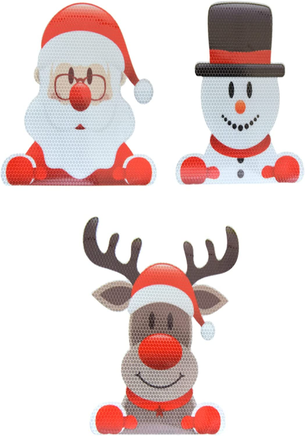 Santa Claus Snowman and Stickers; Christmas Children's Elk New products world's Safety and trust highest quality popular