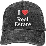 I Love Real Estate Ajustable Deporte Jeans Béisbol Golf Gorra Sombrero Unisex Estilo
