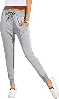 YOUNG TRENDZ Women's Slim Track Pants (WOM_Jog_Grey_Large)
