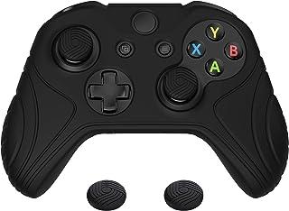PlayVital Samurai Edition Black Anti-Slip Controller Grip Silicone Skin for Xbox One X/S Controller, Ergonomic Soft Rubber...