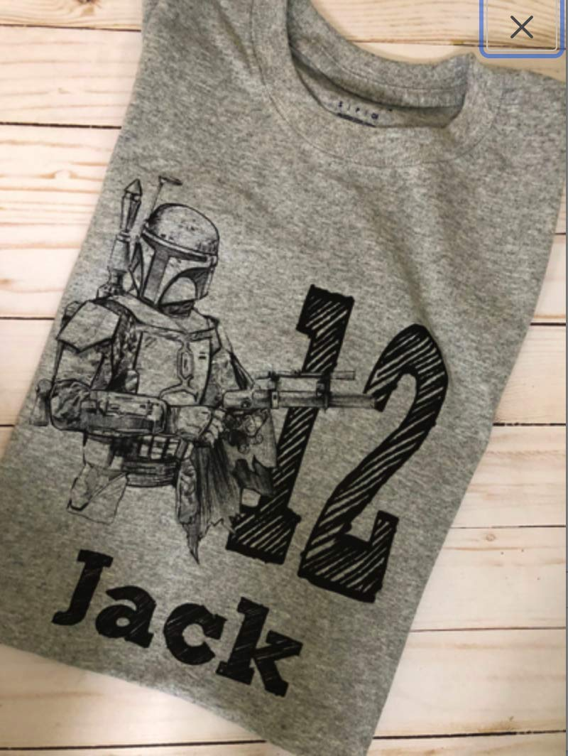 Star Tulsa Mall Wars Mandalorian Genuine Free Shipping shirt with digit and for name boy