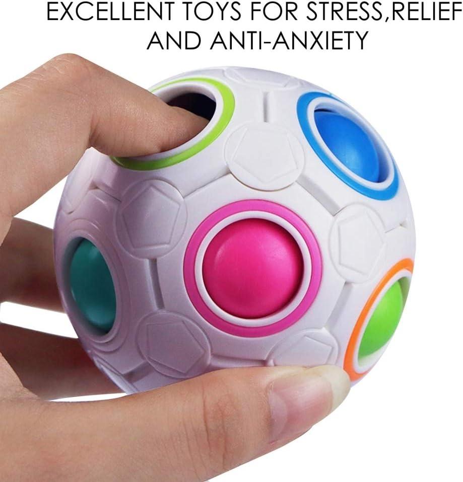 Juguetes para aliviar el estr/és de la Mano para Ni/ños Adultos Juguetes Antiestr/é Fidget Alivia Estr/és y la Ansiedad Toy Juguetes Antiestr/és Pack Fidget Toy Packs 37 Piezas Juguetes Sensoriales
