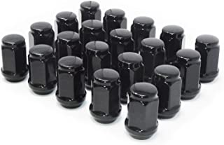 Mastiff 13757BK, Acorn Bulge After-Market Lug Nut Set - M12X1.5 Thread, Black Chrome Finish, 3/4 Hex, 60 Degree Conical Seat (Pack of 20)