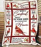 Red Cardinal Bird Blanket, Bird Blanket, Best Gift (Velveteen Plush 30x40 Perfect for Child)
