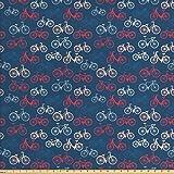 Ambesonne Fahrrad-Stoff von The Yard, City Race und
