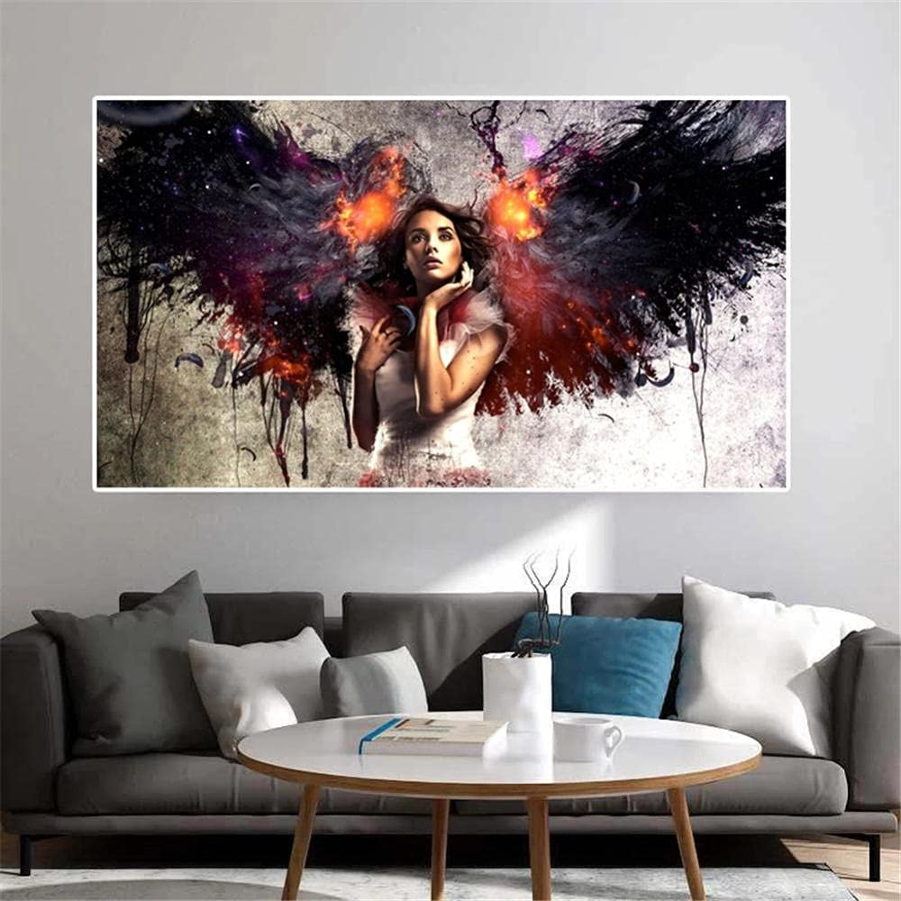 DIY 5D Diamond Max 87% Year-end gift OFF Painting by Wings Girl Number Kits Angel