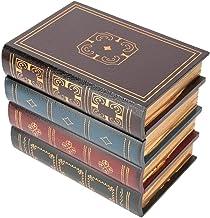 Fdit Pudełko do przechowywania w stylu vintage z symulacją w kształcie książki Ewelry pudełko do przechowywania książek st...