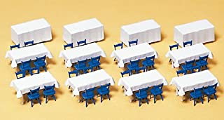 Preiser 17219 Accessories Banquet Tables/Chairs HO Scale Scenery Set