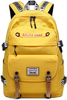 College Backpack for Women Teen Heavy Duty Laptop High School Book Bag with USB Port Chest Strap