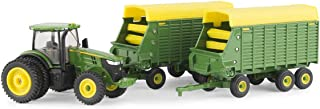 John Deere 1/64 7290R with Forage Wagons