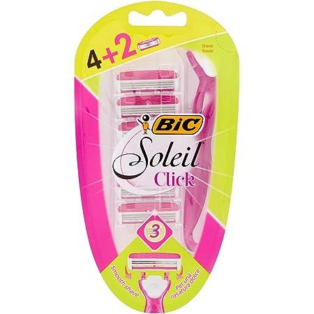 Bic Soleil Easy System - Rasoio monouso con 6 testine di ricambio
