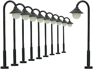 LYM25 10pcs Model Railway Train Lamp Post Street Lights N TT Scale LEDs NEW