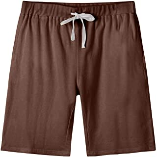Arloesi Men's Cotton Sweat Shorts with Pockets