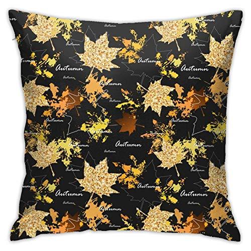 18' Imágenes Dobles Cojines Fundas Sencillas Pillowcase Hojas otoño Funda Almohada Suave clásicas Cushion Cover