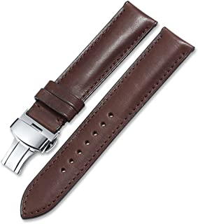 Calf Leather Watch Strap Quick Release Band Deployant Clasp Replacement 16 18 19 20 21 22 24mm