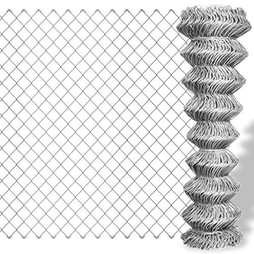 vidaXL Grillage galvanisé en rouleaux à mailles carrées 25 x 1,5 m Clôture de jardin