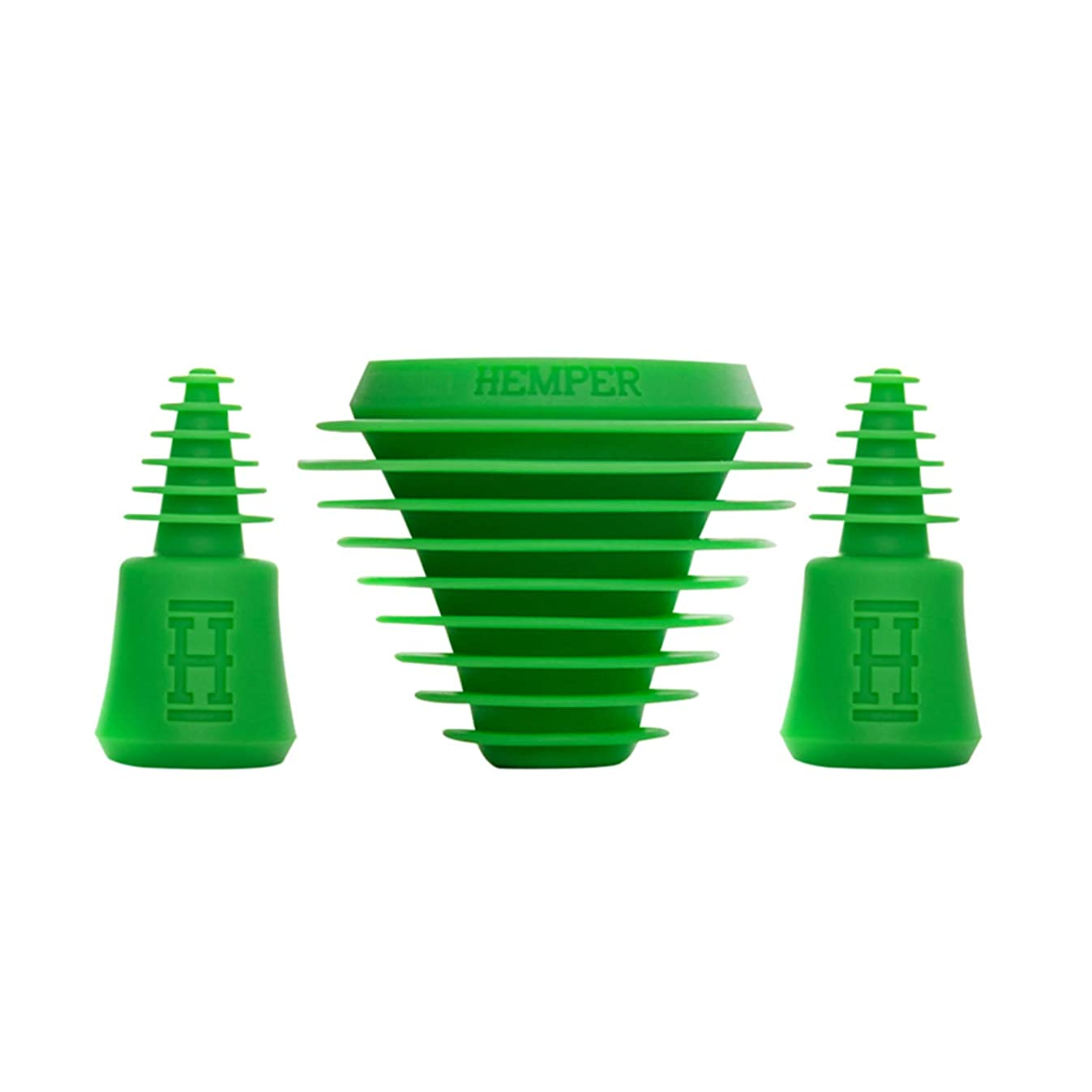 HEMPER Tech Universal Cleaning Plugs+Caps for Cleaning, Storage, and Odor Proofing Glass Water Pipes/Rigs and More