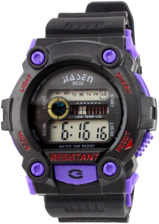 XM Unisex round outdoor sports luminous watches(Black Yellow Red Purple) , purple