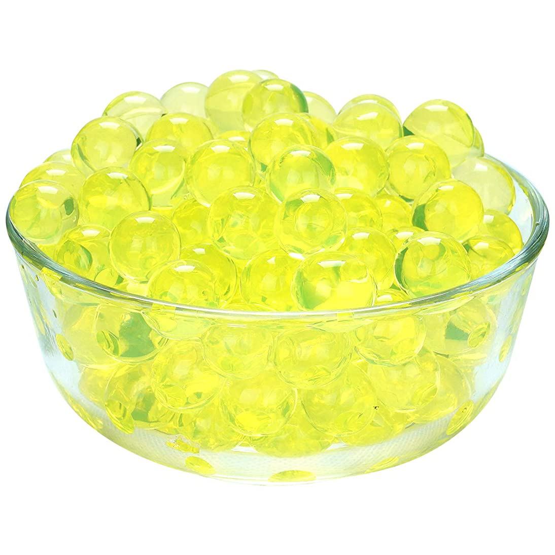 LOVOUS 7000 Pcs Water Beads, Crystal Soil Water Bead Gel, Wedding Decoration Vase Filler - Furniture Decorative Vase Filler, All Occasion Table Scatters Centerpiece Decorations(Yellow)