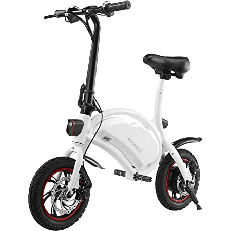 ANCHEER an-EB5 Plus Folding Electric Bike 350W/500W Electric Commuter Bicycle, 20MPH Adults Ebike with 48V 6ah/7.5ah Battery & Dual-Disc Brakes
