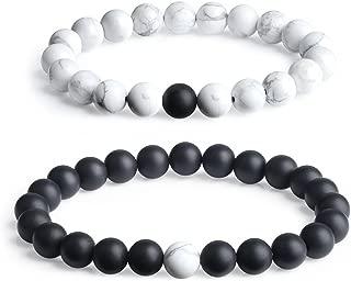 Long Distance Onyx Stone Matching Couples Bracelets