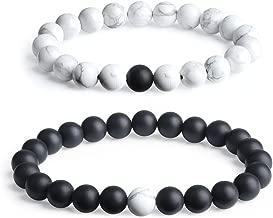 COAI Long Distance Onyx Stone Matching Couples Bracelets