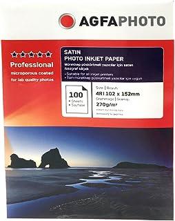 AgfaPhoto AP210100A6 Papel fotogr//xe1fico de inyecci//xf3n de tinta 10 x 15 cm, 100 hojas, 210 g
