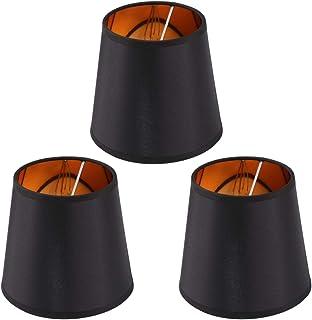 3 قطع مصباح صغير الظل برميل النسيج الديكور عاكس الضوء لضوء الطاولة مصباح السقف السقف الأسود
