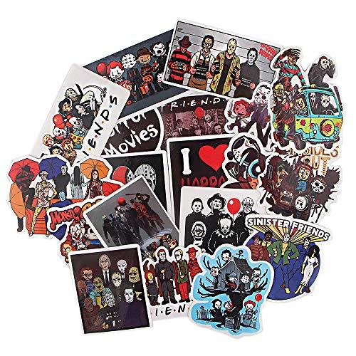 BAIMENG Killer Stickers Creative Travel Case Skateboard Refrigerator Laptop Cartoon Pegatinas impermeables 19 piezas