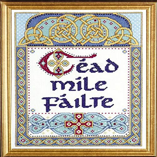 """Design Works Crafts One Hundred Thousand, 9"""" x 12"""" Counted Cross Stitch Kit, 100,000 Welcomes"""