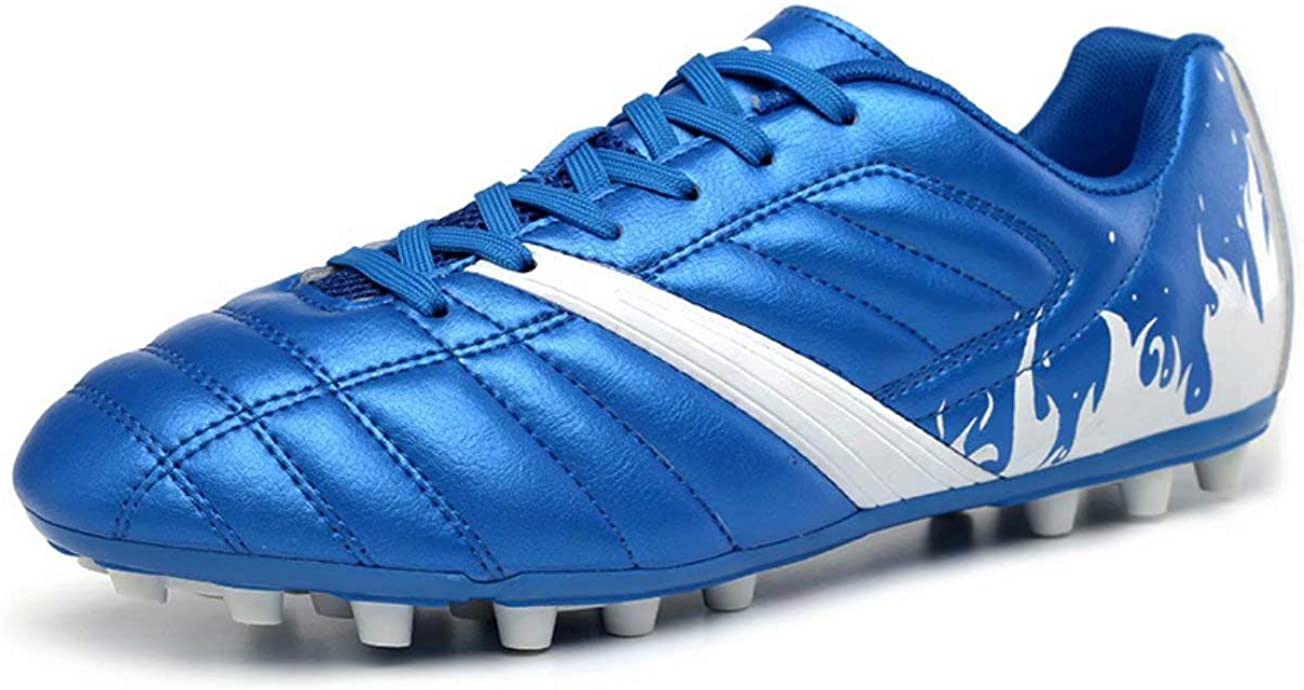 Aulens Kids' Outdoor/Indoor Soccer Shoes Athletic Soccer Cleats Football Boots Shoes(Little Kid/Big Kid) Blue