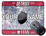 BRGiftShop Customize Your Own Hockey Team Detroit Square Mouse Pad