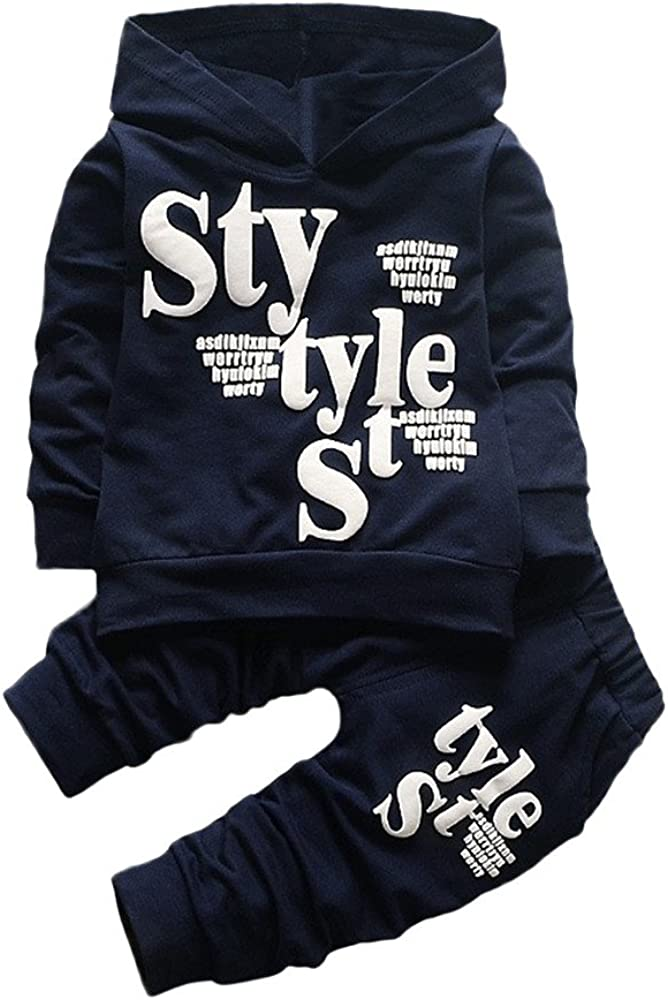 NEW Winter 2Pcs Outfit for Toddler Kids Sleeve Long Boys Ranking integrated 1st place Baby Letter